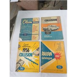 4 COLLISION MANUALS (FORD) *1954-1957*