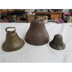 3 (ANTIQUE) BELLS