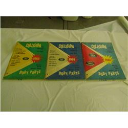 3 COLLISION (FORD) MANUALS *1959, 59, 61*