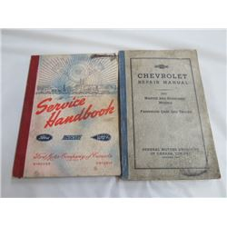 FORD SERVICE HANDBOOK  *FROM 1932 TO 41* & CHEV REPAIR MANUAL FOR 1993 CARS & TRUCKS