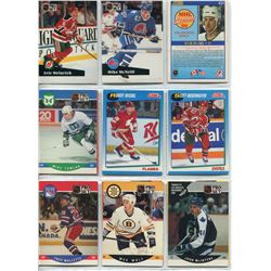 FIRST YEAR/ROOKIE HOCKEY CARDS, (ERIC URINRICH, GEOFF SMITH, ETC)