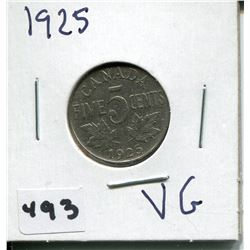 1925 CNDN GEORGE V 5 CENT PC