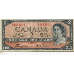1954 CNDN $2 BANK NOTE *DEVILS FACE*, (COYNE/TOWERS)