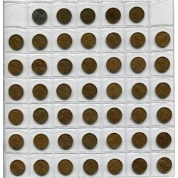 131 AMERICAN PENNIES (FROM EARY 1900s TO 1980s W/BINDER)