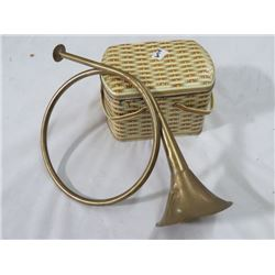 COOKIE LUNCH KIT (MID 1950s) & BRASS HORN