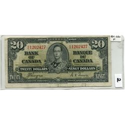 1937 BANK OF CANADA (20 DOLLAR NOTE)
