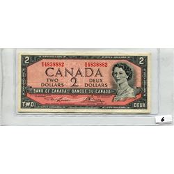1954 BANK OF CANADA (TWO DOLLAR NOTE)