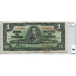 1937 BANK OF CANADA (ONE  DOLLAR NOTE)