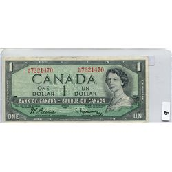 1954 BANK OF CANADA (ONE  DOLLAR NOTE)