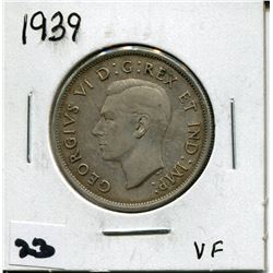 1939 CANADIAN 50 CENT COIN