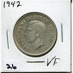 1942 CANADIAN 50 CENT COIN
