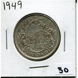1949 CANADIAN 50 CENT COIN