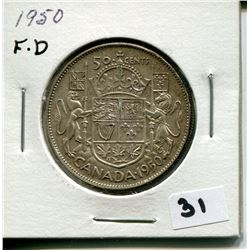 1950 CANADIAN 50 CENT COIN