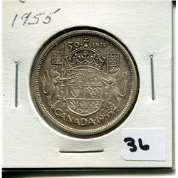 1955 CANADIAN 50 CENT COIN