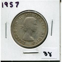 1957 CANADIAN 50 CENT COIN