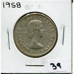 1958 CANADIAN 50 CENT COIN