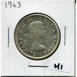 1963 CANADIAN 50 CENT COIN