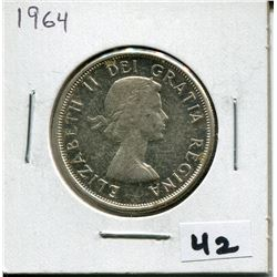 1964 CANADIAN 50 CENT COIN