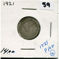 1921 CANADIAN 10 CENT COIN