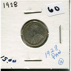 1928 CANADIAN 10 CENT COIN