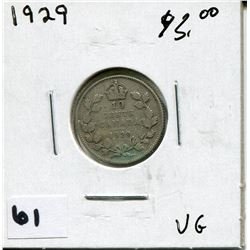 1929 CANADIAN 10 CENT COIN