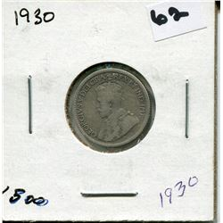 1930 CANADIAN 10 CENT COIN