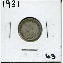 1931 CANADIAN 10 CENT COIN