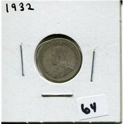 1932 CANADIAN 10 CENT COIN