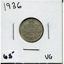 1936 CANADIAN 10 CENT COIN