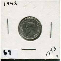 1943 CANADIAN 10 CENT COIN