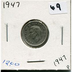 1947 CANADIAN 10 CENT COIN