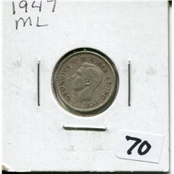1947 ML CANADIAN 10 CENT COIN