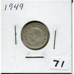 1949 CANADIAN 10 CENT COIN
