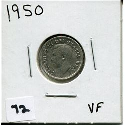 1950 CANADIAN 10 CENT COIN