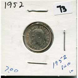 1952 CANADIAN 10 CENT COIN