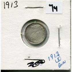 1913 CANADIAN 5 CENT COIN