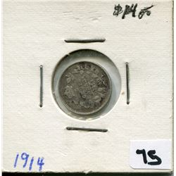 1914 CANADIAN 5 CENT COIN