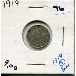 1919 CANADIAN 5 CENT COIN