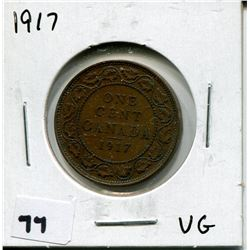 1917 CANADIAN *COPPER* ONE CENT COIN