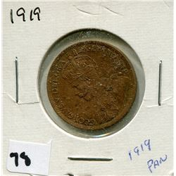 1919 CANADIAN *COPPER* ONE CENT COIN