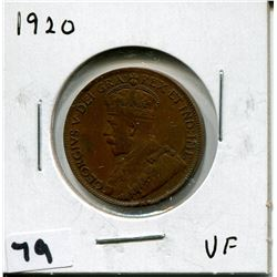 1920 CANADIAN *COPPER* ONE CENT COIN