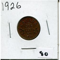 1926 CANADIAN *COPPER* ONE CENT COIN