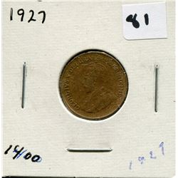 1927 CANADIAN *COPPER* ONE CENT COIN