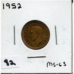 1952 CANADIAN *COPPER* ONE CENT COIN