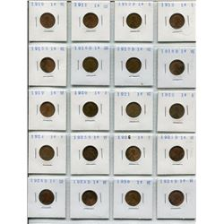 1910-1958 (40 GRADED) USA PENNIES
