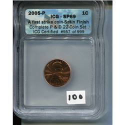 2005 (ICG CERTIFIED) USA PENNY