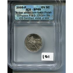 2005 (ICG CERTIFIED) USA *OCEAN VIEW NICKEL*