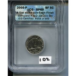 2005 (ICG CERTIFIED USA *BUFFALO NICKEL