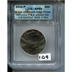 2005 (ICG CERTIFIED) U.S.A. 50 CENT COIN