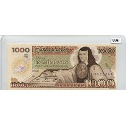 1982 ONE THOUSAND PESOS NOTE (BANK OF MEXICO) *UNC*